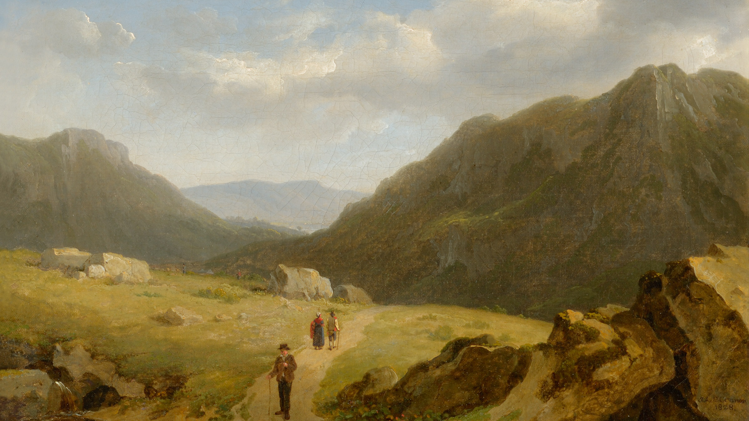 Scene in Connemara  Oil on canvas. 1828. Photo by Frank Poole.  James Arthur O'Connor Copyright Frank Poole 2012