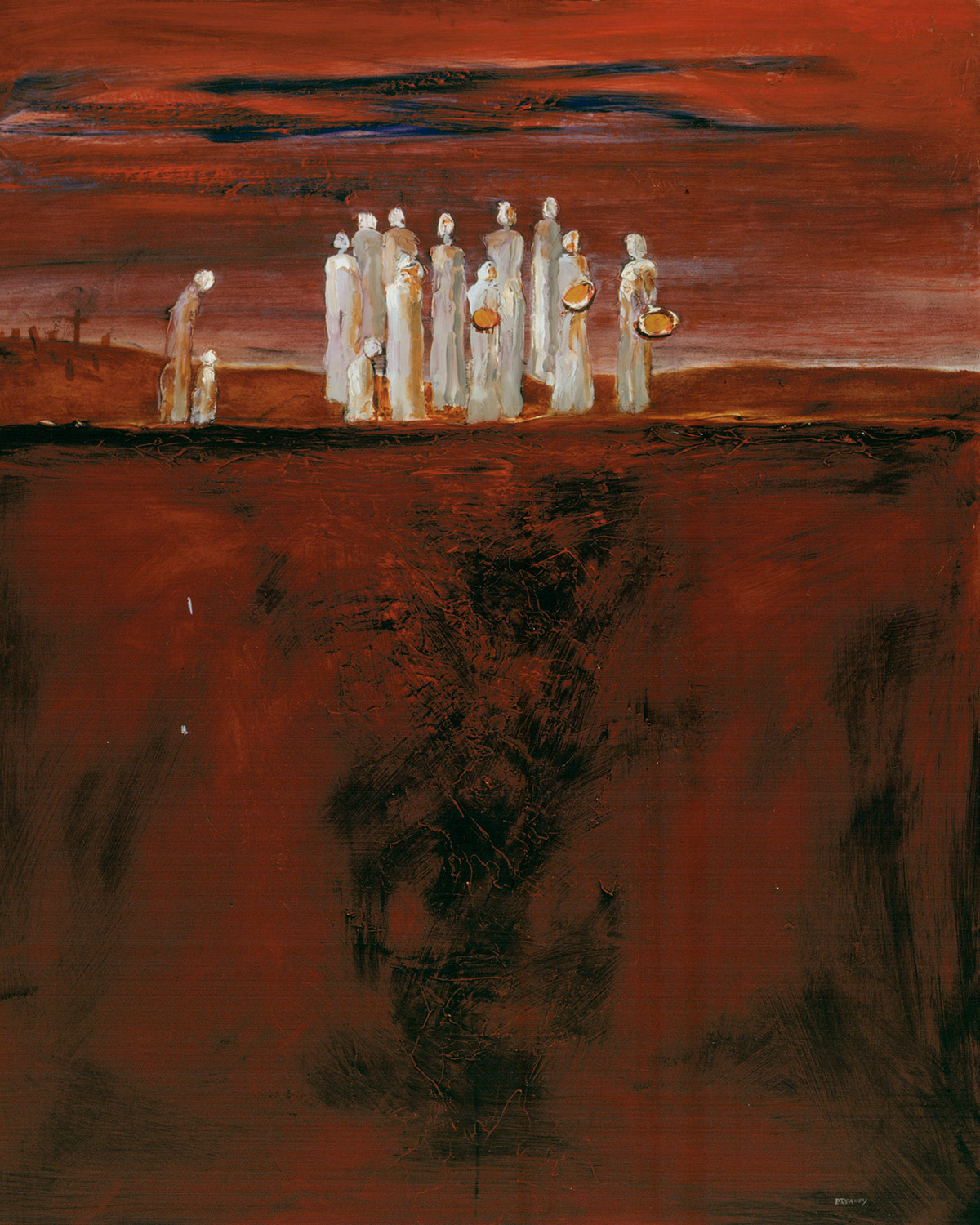 Gorta II. Oil on masonite. 1995. Padraic Reaney.
