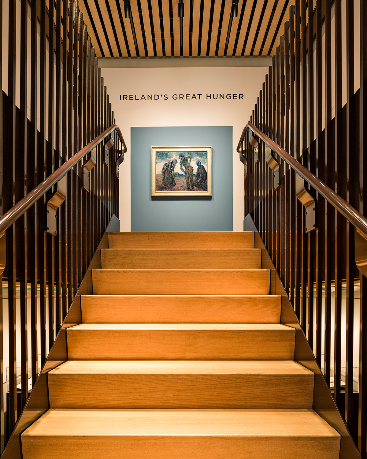 Interior of Ireland's Great Hunger Museum at Quinnipiac University. Photographer Robert Benson.